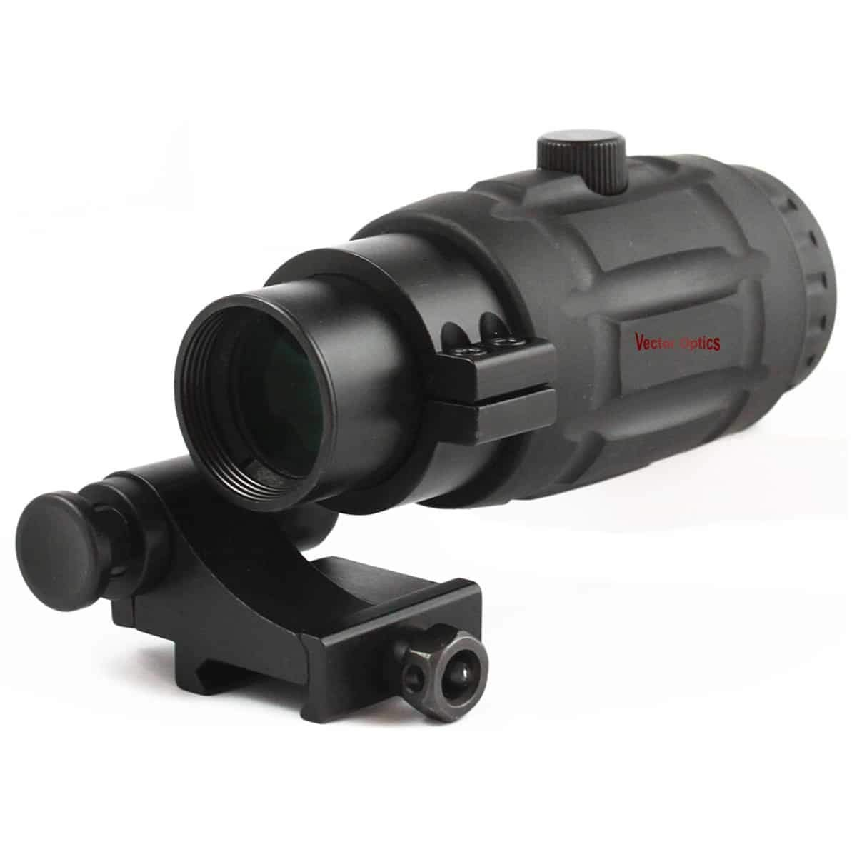 TAC Vector Optics Rubber Armored 3x Magnifier for Holographic Red Dot Sight Scope with Flip to Side QD Weaver Mount…