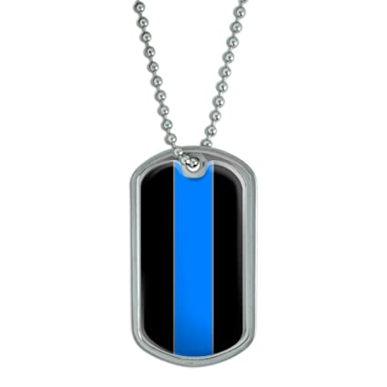 Amazon.com  Thin Blue Line Police - Military Dog Tag Keychain ... 9ffc125d54d