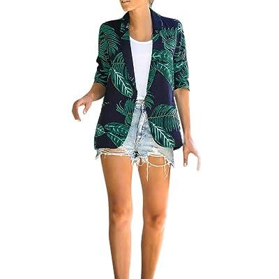 Abrigo De Escote Redondeado Mujer, Tallas Grandes Señoras para Mujer Turn Down Collar Leaves Jacket Abrigo De Manga Larga Parka Prendas De Abrigo De Moda Chaquetas De Mujer: Ropa y accesorios
