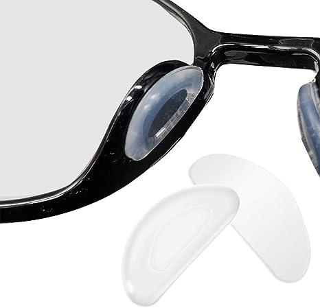 Transparente 10 Pares de gafas Almohadillas de Nariz de Silicona Almohadillas Adhesivas Antideslizantes Protector de nariz de gafas vasos adhesivos de para Gafas Gafas de Sol