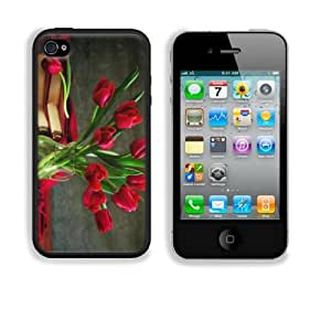Red Tulips Bouquet Apple iPhone 4 / 4S Snap Cover Case Premium Leather Customized Made to Order Support Ready 4 7/16 inch (112mm) x 2 3/8 inch (60mm) x 7/16 inch (11mm) Liil iPhone4/4s Professional Cases Touch Accessories Graphic Covers Designed Model HD Template Designed Wallpaper Photo Jacket Wifi 16gb 32gb 64gb Luxury Protector Wireless Cellphone Cell Phone