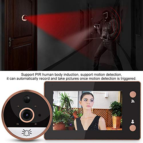 WiFi Smart Video Doorbell 4.3in 720P HD WIFI Cat Eye Camera Peephole Viewer Monitor Video Door Phone Kit IR Night Vision Motion Detection by Sonew (Image #3)
