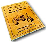 Allis Chalmers Wd-45 Tractor Operators Parts Manual Owners Instructions