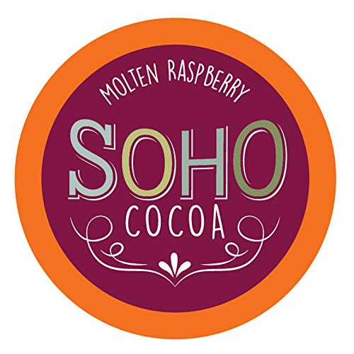 Chocolate Chocolate Hot Raspberry - Soho Cocoa Molten Raspberry Hot Chocolate Pods for Keurig K-Cup Brewers, 40 Count
