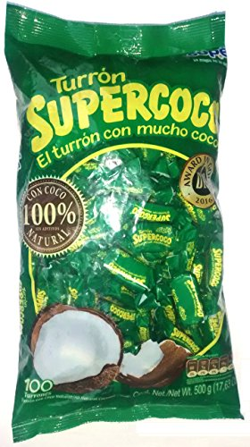 Turron Supercoco - 100 units - All Natural Coconut Candy by Supercoco
