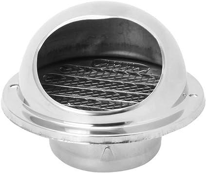 Rejilla de ventilación de la pared Rejilla de ventilación del conducto Salida del extractor Rejillas Hemisferio 304 Cubierta de ventilación de aire de acero inoxidable Salida de la campana-Plata: Amazon.es: Bricolaje y