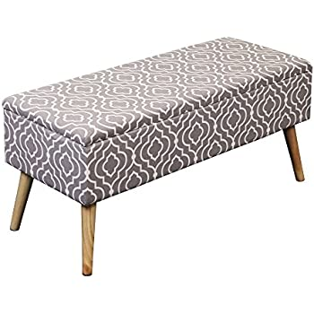 Amazon Com Orchard Street Upholstered Storage Bench By