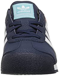 adidas Originals Samoa Sneaker (Little Kid/Big Kid), Collegiate Navy/White/Blue Spirit, 12 M US Little Kid