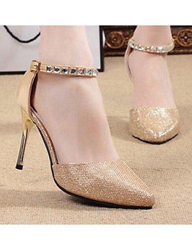GGX/ Damenschuhe-High Heels-Lässig-PU-Stöckelabsatz-Absätze-Silber / Gold golden-us6 / eu36 / uk4 / cn36