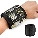 Magnetic Wristband, Jhua Magnet Arm Band, Screw Holder, Magnetic Wrist Tool Holder with Strong Magnets, Adjustable Strap, for Screws, Nails, Bolts, Drill Bits and Small Metal Tools