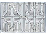 Prairie 1 White 20.5'' x 14'' Horizontal Stained Glass Panel