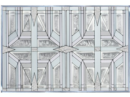 Prairie 1 White 20.5'' x 14'' Horizontal Stained Glass Panel