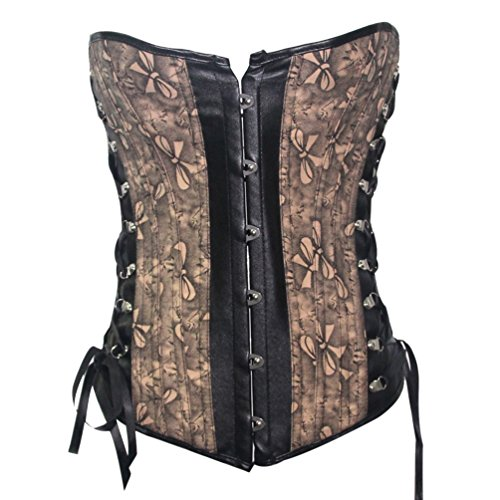 Princess Lace up Boned Jacquard Corset Bustier Top (Stretch Jacquard Bustier)