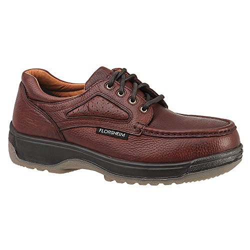 Florsheim Mens Oxford Shoes, Tipo Punta Composita, Materiale Superiore In Pelle, Testa Di Moro, Taglia 8d - 1 Cad