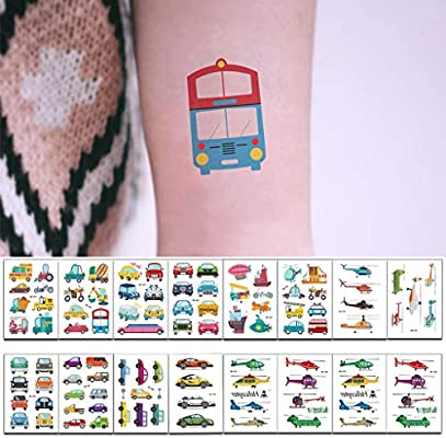 Amycute 16 hojas Tatuajes Temporales de Coche, Pegatinas de niños ...