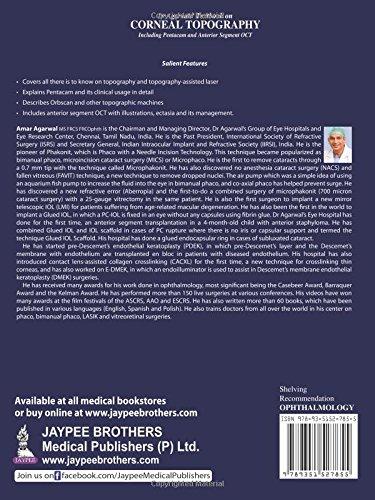 Dr Agarwals' Textbook on Corneal Topography: Including Pentacam and Anterior Segment Oct - http://medicalbooks.filipinodoctors.org