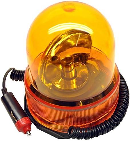 Revolving Recovery Beacon Warning Flashing Light Lamp Amber Orange TE350