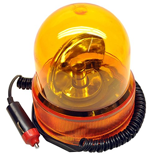 Revolving Recovery Beacon/Warning Flashing Light/Lamp Amber Orange TE350 ()