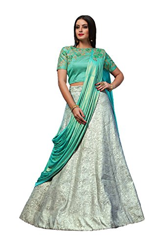 Indian Women Designer Partywear Ethnic Traditional Gray Lehenga Choli. by The Stylam