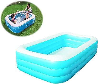 SSCYHT Piscina Familiar Piscina Inflable Ideal para niños Adultos Diversión al Aire Libre Terraza en el Patio Playa Fácil de Montar, Azul: Amazon.es: Deportes y aire libre