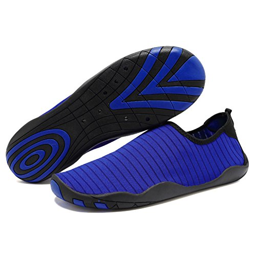 Equick Water Zapatos Aqua Sports Sneakers Slip On Quick Dry Para Hombres Mujeres Niños Pesca A.blue
