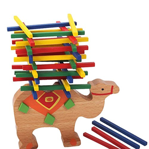 VIPASNAM-Wooden Educational Camel Balance Beam Game For Children Kids Hands Learning