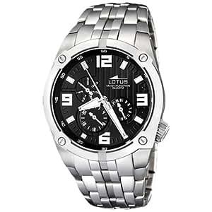 Lotus 15679/2 - Reloj analógico de caballero de cuarzo con correa de acero inoxidable plateada - sumergible a 50 metros: Amazon.es: Relojes