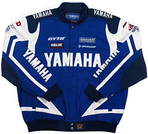 [Yamaha Racing Mens Cotton Twill Embroidered Jackets in 3 Great Styles (3X, Royal Blue - White)] (Snow Motorcycle Jackets)