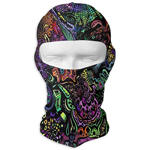 YIXKC Balaclava Trippy Wallpapers Stylish Ski and Winter Sports Headwear for Men Skiing ()