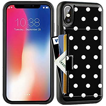 ZVE Case for Apple iPhone Xs and X, 5.8 inch, Wallet Case with Credit Card Holder Slot Slim Leather Pocket Protective Case Cover for Apple iPhone Xs and X ...