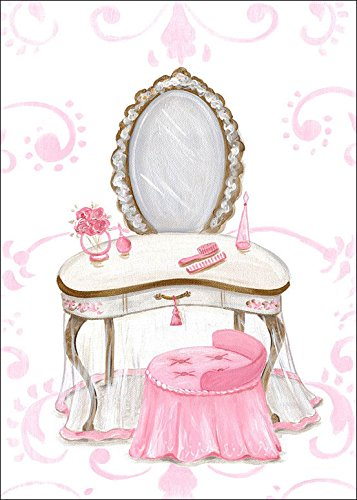 Oopsy Daisy Fine Art for Kids Little Princess Vanity Canvas Wall Art by Kris Langenberg, 10 x 14'' by Oopsy Daisy