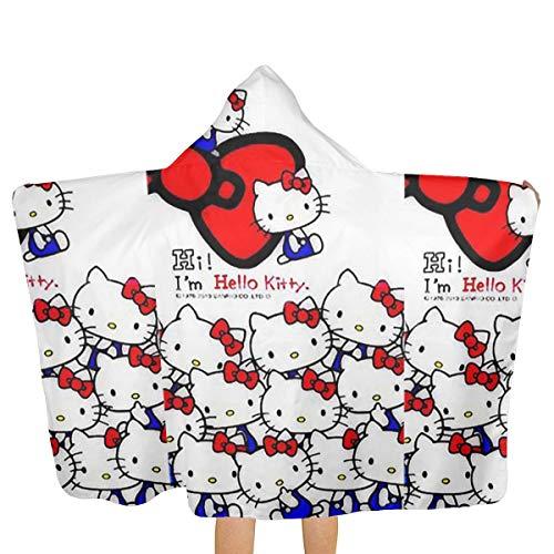 Xzcxyadd Big Beach Towel with Hood & Baby Bath Towel - Hello Kitty Beauty Theme Fast Drying Beach Towel for Swim Pool Ultra Absorbent - 51.5 X 31.8 Inch for $<!--$31.99-->