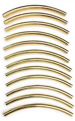 12 Gold Tube Spacer - Polished Gold Tubing,Jewelry rods, Handbag Making 1/4'' x 4''(6x90mm Gold) -