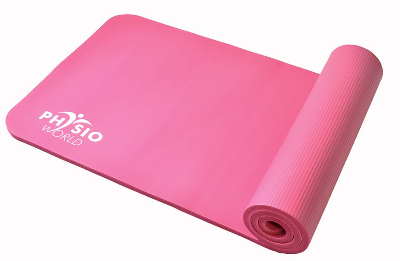 PhysioWorld Colchoneta de Deporte y Ejercicio Grande Yoga Pilates con Correa de Transporte 183cm de Longitud x 60cm de Ancho x 1cm x 1.5cm product image