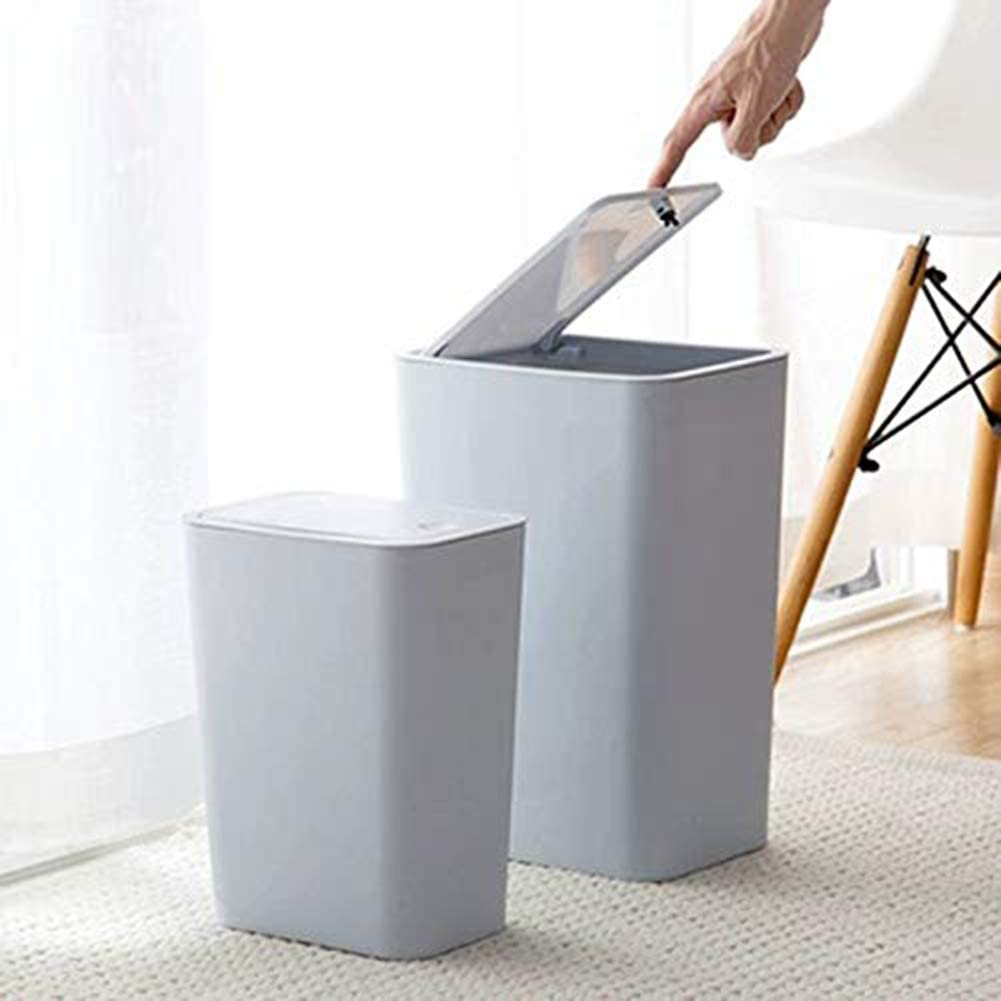 ZXD Paper Basket Toilet With Lid Trash Can Pressure Bomb Cover Trash Can Household,Blue,28X14.5CM
