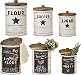 Primitives by Kathy Farmhouse Tin Canisters, Sugar, Coffee, Flour
