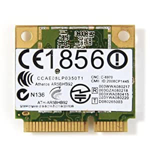 Atheros AR9280 AR5BHB92 media inalámbrico WLAN tamaño inalámbrico PCI-E Tarjeta de Wifi 802,11 A/b/g/n AzureWave AW-NE733H