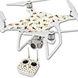 MightySkins Skin for DJI Phantom 4 Quadcopter Drone – Fishing Flies | Protective, Durable, and Unique Vinyl Decal wrap Cover | Easy to Apply, Remove, and Change Styles | Made in The USA