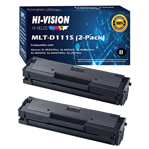 - HI-VISION HI-YIELDS Compatible Toner Cartridge Replacement for Samsung MLT-D111S ( Black , 2 pk )