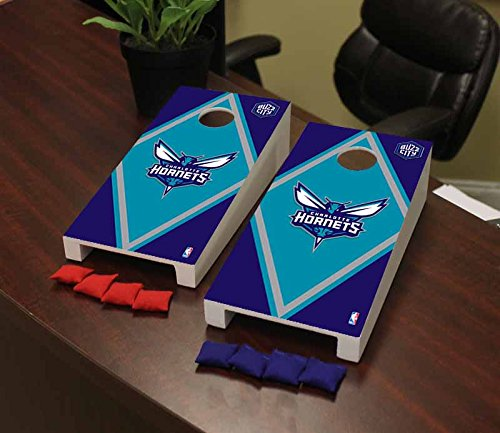 Victory Tailgate Charlotte Hornets NBA Basketball Desktop Cornhole Game Set Diamond Version by Victory Tailgate