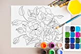 Botany Coloring Book for Relaxing: A Flower Adult