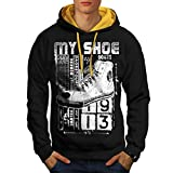 High Top Sneaker Shoe Urban Love Men S-2XL Contrast Hoodie | Wellcoda