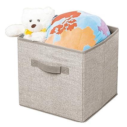 mDesign Juego de 2 cajas de almacenaje para bebé ? Prácticas cajas para guardar ropa de