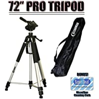 Professional PRO 72 Super Strong Tripod With Deluxe Soft Carrying Case For The Nikon D5000, D3000 Digital SLR Cameras
