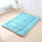 Yaolan Thin Japanese Double Mattress, Tatami Floor Mat Quilted Student Dorm Non-Slip Futon Mattress Topper Foldable Cushion Mats