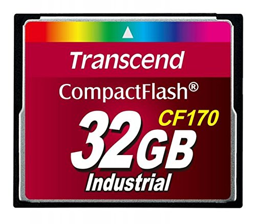 Transcend Industrial CompactFlash Memory Card - 32 GB, Red (TS32GCF170)