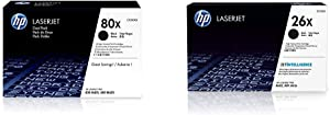 HP 80X | CF280XD | 2 Toner Cartridges | Black | High Yield & 26X | CF226X | Toner Cartridge | Black | High Yield
