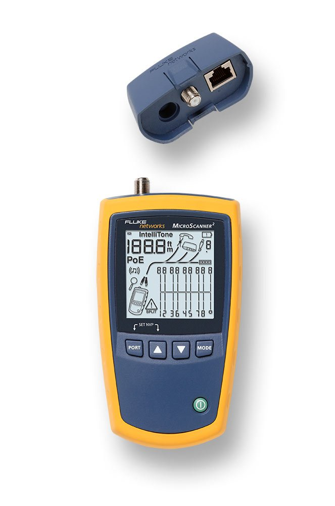 Fluke Networks MS2-TTK MicroScanner2 Network Cable Tester Kit with Punch Down Tool and Tone Generator and Probe by Fluke Networks (Image #3)