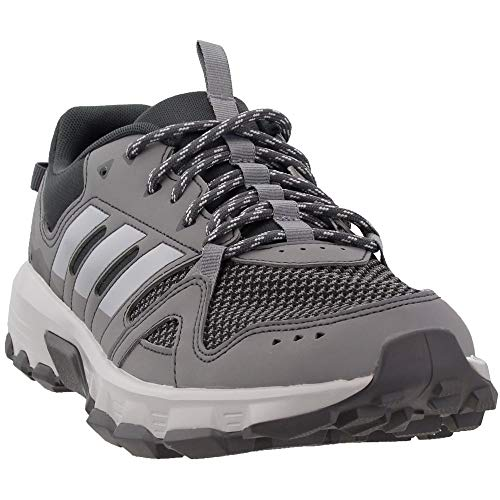 adidas Men's Rockadia Trail Running Shoe, Grey/Grey/Carbon, 9.5 M US