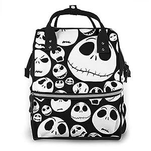 NHJYU Diaper Bag Backpack – Horrible Jack Skellington Multifunction Waterproof Travel Backpack Maternity Baby Nappy…